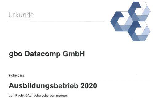 gbo datacomp wird Ausbildungsbetrieb 2020